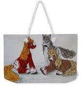 Three Little Ponies Weekender Tote Bag