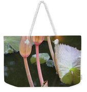 Three Lotus Buds Weekender Tote Bag