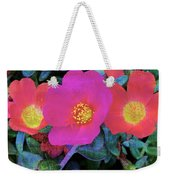 Three Lovely Flowers Weekender Tote Bag