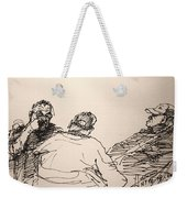 Three Men At Tims Weekender Tote Bag