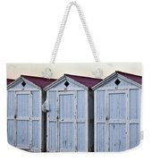 Three Modello Beach Cabanas Weekender Tote Bag