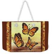 Three Monarch Butterflies Weekender Tote Bag
