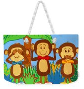 Three Monkeys No Evil Weekender Tote Bag