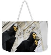 Three Muses On The Lithuanian National Dramatic Theatre In Vilnius Weekender Tote Bag