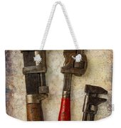 Three Old Worn Wrenches Weekender Tote Bag