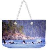 Three Orca Whales Weekender Tote Bag