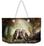 Three Owl Moon Weekender Tote Bag by Carol Cavalaris