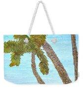 Three Palms At The Beach Weekender Tote Bag