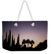 Three Palms In California At Sunset Weekender Tote Bag