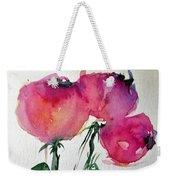 Three Pink Flowers 2 Weekender Tote Bag