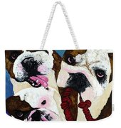Three Playful Bullies Weekender Tote Bag