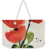 Three Poppies Weekender Tote Bag