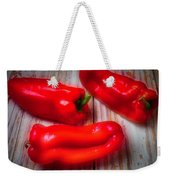 Three Red Bell Peppers Weekender Tote Bag