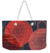 Three Red Lanterns- Art By Linda Woods Weekender Tote Bag