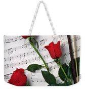 Three Red Roses  Weekender Tote Bag by Garry Gay