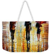Three Red Umbrellas Weekender Tote Bag