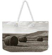 Three Rolls Of Hay Weekender Tote Bag by Lorraine Devon Wilke