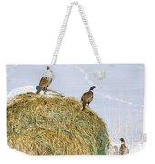 Three Roosters Weekender Tote Bag