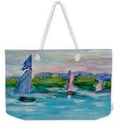 Three Sailboats Weekender Tote Bag
