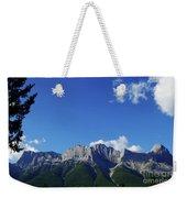 Three Sisters Ridges Canmore Alberta Gateway To Banff National Park Weekender Tote Bag