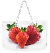 Three Strawberries Weekender Tote Bag