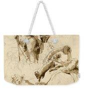 Three Studies Of The God Bacchus Weekender Tote Bag