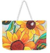 Three Sunflowers Weekender Tote Bag