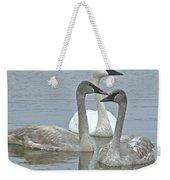 Three Swans Swimming Weekender Tote Bag