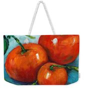 Three Tangerines Still Life Grace Venditti Montreal Art Weekender Tote Bag