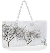 Three Trees In A Snowstorm Weekender Tote Bag