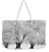 Three Trees In The Snow - Bw Fine Art Photography Print Weekender Tote Bag