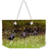 Three Turkeys Weekender Tote Bag