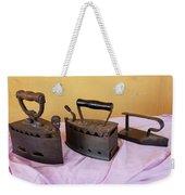 Three Vintage Irons Weekender Tote Bag