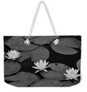 Three Water Lilies  Weekender Tote Bag