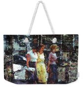 Three Women In Town Weekender Tote Bag