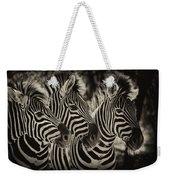 Three Zebra Weekender Tote Bag
