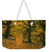 Through The Fallen Leaves Weekender Tote Bag