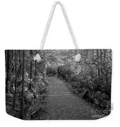 Through The Forest Canopy Black And White Weekender Tote Bag