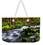 Through The Forest Floor It Flows Weekender Tote Bag