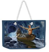 Through The Rapids Weekender Tote Bag