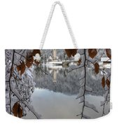 Through The Snow Trees Weekender Tote Bag