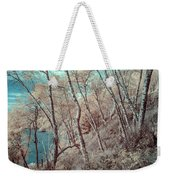 Through The Trees In Infrared Weekender Tote Bag