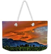 Thunder Storm In The Valley Weekender Tote Bag