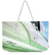 Thunderbird Abstract In Mint And White Weekender Tote Bag