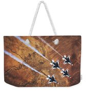 Thunderbirds In Diamond Roll Formation Weekender Tote Bag