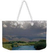 2a6738-thunderhead Over Owens River  Weekender Tote Bag