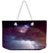 Lightning Thunderstorm Over Dacono Weekender Tote Bag