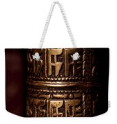 Tibetan Prayer Wheel Weekender Tote Bag