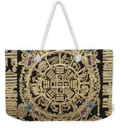 Tibetan Thangka - Tibetan Astrological Diagram Weekender Tote Bag