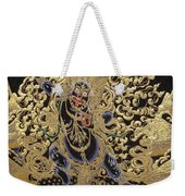 Tibetan Thangka - Vajrapani - Protector And Guide Of Gautama Buddha Weekender Tote Bag